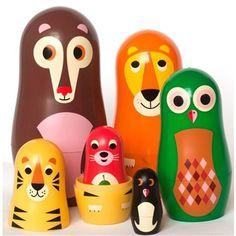 Ingela Animal Nesting Dolls (Image 1)