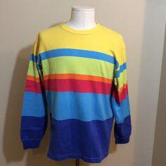6e89673c4 Gant Salty Dog Button Down Shirt Short Sleeve Striped Colorblock vintage 90s  L