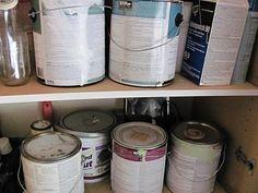 paint storage organization