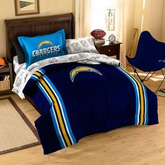 http://www.phomz.com/category/Impressions-Bed-In-A-Bag/ San Diego Chargers NFL Bed in a Bag (Contrast Series)(Twin)