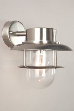 buitenlamp 30251: modern, glas, helder glas, staal , rvs, rond ...