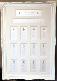 Paper scissors 2013 accessories table plans wedding stationery luxury ornate framed wedding table plan with stunning diamante and pearl adornments junglespirit Choice Image