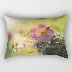 Lovely flowerbouquet in a special light Rectangular Pillow #affordable #feminine #flowers #floral #homedecor #decor  #utart