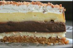 """Prăjitura următoare are un nume atât de ciudat, pentru că este o plăcere pe care nu trebuie să o refuzi. Are ingrediente simple, se prepară extrem de uşor şi e gata cât ai zice """"delicios"""". Hungarian Desserts, Hungarian Cake, Hungarian Recipes, No Bake Desserts, Vegan Desserts, Dessert Recipes, Torte Cake, Cake Bars, My Recipes"""