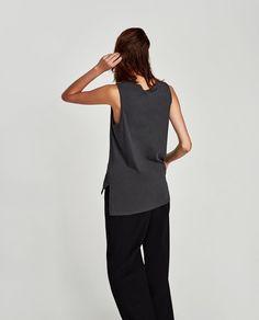 SLEEVELESS T-SHIRT-Basics-T-SHIRTS-WOMAN   ZARA United Kingdom Zara United Kingdom, Normcore, Woman, T Shirt, Style, Fashion, Woman Shirt, Supreme T Shirt, Swag