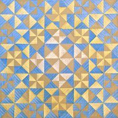 Untitled 031014 Encaustic on Linen on Birch Panel 20 x 20 cm