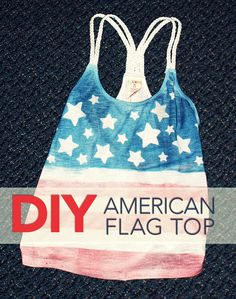diy american flag tank top -- for the fourth of july!