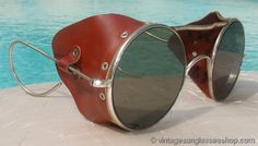 CATEGORY: WOMEN's DESIGNER SPORTS GEAR; sub - Vintage Motorcycle glasses