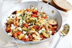 Saganaki prawns. You can count the feta as hexA...so make it sw friendly...to serve with salad x