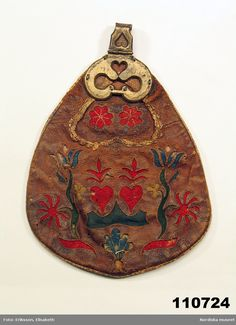 Scandinavian Embroidery, Sewing Pockets, Viking Age, Vikings, Sweden, Folk Art, Needlework, Purses And Bags, Coin Purse