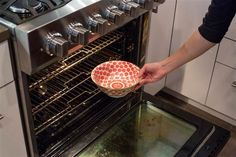 Clean your oven overnight: Instead, place ¼ cup of ammonia into an oven-safe bowl. With the oven turned off, place the bowl in the oven and let it sit overnight. The fumes from the ammonia will soften any and all gunk in the oven, so in the morning, you can simply wipe it off with a clean sponge.