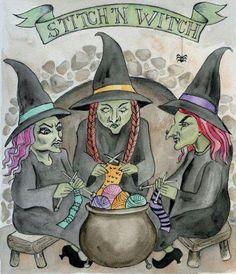 Stitchin' Witches! Cute!