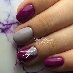 100 Winter Nail Designs 2018 – Reny styles - New Site Shellac Nails, Diy Nails, Cute Nails, Acrylic Nails, Nail Polish, Gel Manicures, French Manicures, Nail Nail, Chevron Nail Designs