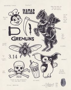 Gremlins by Mike Giant, 2013.