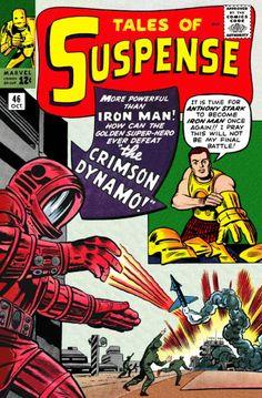 Tales of Suspense Marvel Comics 1963 Crimson Dynamo vs Early Iron Man Silver Age Comics, Univers Marvel, Vintage Comic Books, Vintage Comics, Jack Kirby, Marvel Comic Books, Comic Books Art, Comic Art, Book Art
