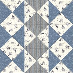 It was originally published by the Ladies Art Company( in with only four half-square triangles along the centre square. Nancy Cabot published it as Indian Mats in the Chicago Tribune in this time wi Blue Quilts, Scrappy Quilts, Easy Quilts, Mini Quilts, Quilt Square Patterns, Pattern Blocks, Square Quilt, Colchas Quilting, Quilting Projects