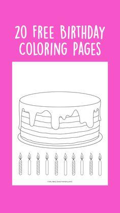 Happy Birthday Parties, Happy Birthday Wishes, Birthday Gifts, Birthday Activities, Party Activities, Free Activities For Kids, Kindergarten Activities, Birthday Coloring Pages, Free Coloring Sheets