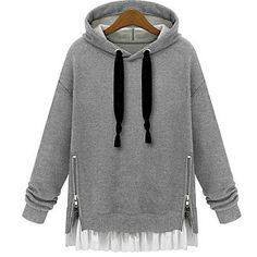 hoodie with hemline detail