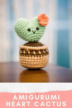 This mini cactus amigurumi is a crochet cactus hoya kerri in a brown planter pot. Learn how to create this super cute amigurumi design by clear step by step patterns, tons of detailed videos, and a beginner friendly format. I'm Julia, an amigurumi designer obsessed with everything kawaii for homemakers, stay at home moms, plant lovers, plant moms, crafters, and fiber artists. Check out more of my free amigurumi / crochet patterns & get to know me on littleworldofwhimsy.com. Crochet Baby Toys, Crochet Gifts, Crochet Dolls, Crochet Cactus, Crochet Flowers, Unique Crochet, Cute Crochet, Amigurumi Patterns, Crochet Patterns
