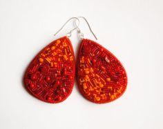 Tulip earrings asymmetrical earrings fancy by WhimsyShades