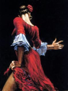 Flamenco dancer, I like the back view, particularly as I'm not adapt at painting faces yet