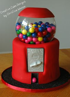 For the fun loving Groom a gumball cake
