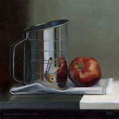 "Daily Paintworks - ""Apple Pie"" - Original Fine Art for Sale - © Ester Wilson"
