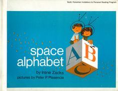 Retro Illustration, Pattern Illustration, Illustrations, Space Books, Alphabet Book, Kids Poster, Children's Picture Books, Vintage Children's Books, Science Art