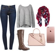 Untitled #954 by emmahhayes on Polyvore featuring polyvore fashion style Frame Denim Avenue Michael Kors Humble Chic