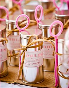cute wedding favor. bubbles!