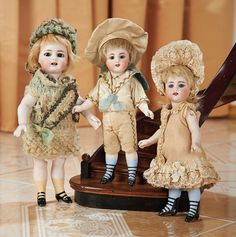 Cotillion - The Susan Whittaker Collection : 63 Large German All-Bisque Doll, 886, with Square-Cut Teeth by Simon and Halbig