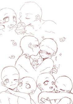 Drawing Expressions, Art Inspiration Drawing, Art Drawings Sketches Simple, Art Base, Drawing Reference Poses, Drawing Base, Cartoon Art Styles, Character Drawing, Anime Base Chibi