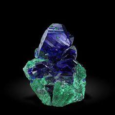 Azurite and Malachite - Milpillas Mine, Cuitaca, Mun. de Santa Cruz, Sonora, Mexico Size: 48 mm