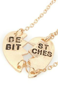 BFF necklace //