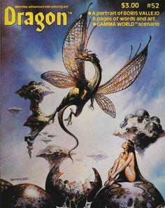 Hatchling. (Boris Vallejo, Dragon magazine No 52, TSR, August 1981.)