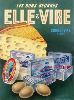 J Bolot, Les bons beurres - Elle & Vire, 1953