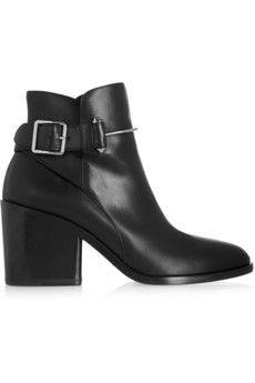 Balenciaga Bootie leather ankle boots | NET-A-PORTER