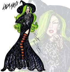 Haute Halloween: Wicked Witch Lady Gaga by Hayden Williams