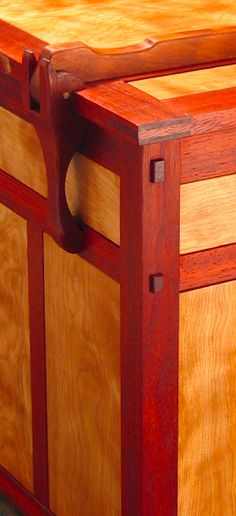 Wood hinge detail.