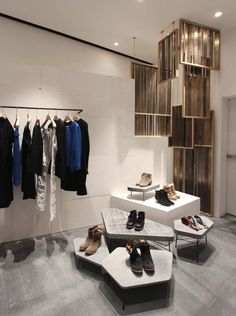Store interior design for the fashion designer Isabel Marant. materials: floor…