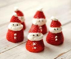 strawberry Santa treats