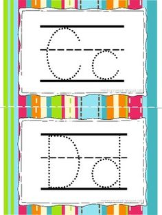 Letter Tracing Book- Print, cut, and put in 4x6 photo album for your child to trace with dry erase crayons or markers!  {$1 TpT}
