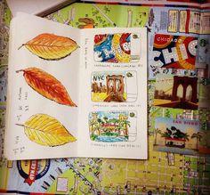 Seaweed Kisses: The Journal Diaries- Hyun-Ju's Traveler's Notebook | journal and mood board inspiration |  digital media arts college | www.dmac.edu | 561.391.1148