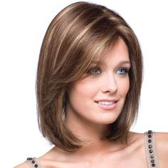 "13.8"" Kanekalon European and American Popular Short Hair Wig Coffee Pick Beige =32$"