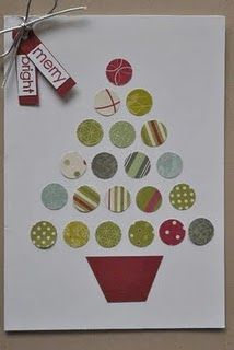 X-mas craft-mark where circles need to go and have kids match colored circles to marked spot