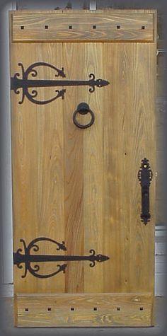 Custom Old World Distressed Plank Door Solid Wood - Doors by Decora Cabin Doors, House Doors, Interior Doors For Sale, Interior Barn Doors, Rustic Doors, Wood Doors, Rustic Entry, Pine Doors, Modern Entry