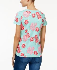 Charter Club Printed Cotton T-Shirt, Only at Macy's - White XXL