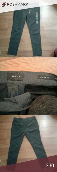 Pants Men's charcoal skinny pants. Brand new with tags. Size  32W  30L PacSun Pants Chinos & Khakis