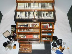 Pristine Antique Medical Dental Case With All Tools   Very cool!