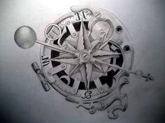 Steampunk+Tattoo+Designs   steampunk)+Tattoo+Designs   Pin Steam Antique Tattoo Art Hearts Jpg ...